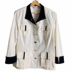 St John Sport White/Navy Lightweight Jacket